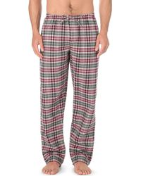 Zimmerli - Red Cotton-flannel Pyjama Bottoms for Men - Lyst