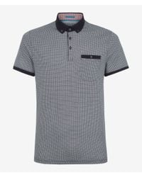Ted Baker - Gray Rayvie Printed Polo Shirt for Men - Lyst