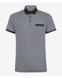 Ted Baker | Gray Rayvie Printed Polo Shirt for Men | Lyst