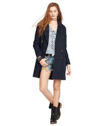 Denim & Supply Ralph Lauren - Blue Double-Breasted Coat - Lyst