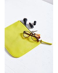 Urban Outfitters - Green Saffiano Large Pouch - Lyst