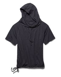 Under Armour | Black Hooded Drawstring Top | Lyst