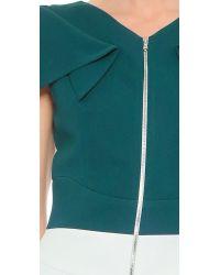 Antonio Berardi | Blue Two-Tone Crepe-Blend Dress | Lyst
