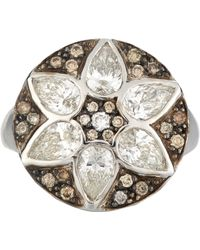 Ileana Makri - Metallic Deco Flower Ring - Lyst