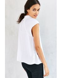 Silence + Noise - White Rory Mock-neck Tank Top - Lyst