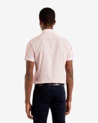 Ted Baker | Red Tile Print Shirt for Men | Lyst