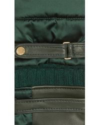 Burberry - Green Satin And Lambskin Gloves - Lyst