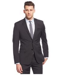 DKNY - Gray Charcoal Grid Extra Slim-fit Suit for Men - Lyst