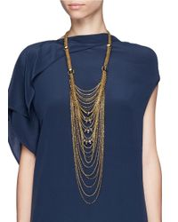 Erickson Beamon | Metallic 'damsel' Iridescent Crystal Mesh Wire Tier Necklace | Lyst