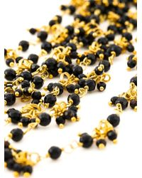 Rosantica - Black Multi Strand Beaded Necklace - Lyst