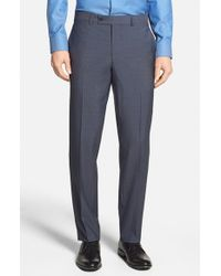 476e98985f089e Lyst - Ted Baker  jefferson  Flat Front Wool Trousers in Blue for Men