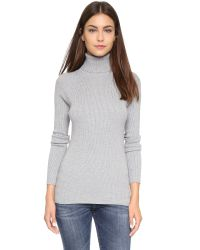 525 America | Gray Ribbed Turtleneck Sweater | Lyst