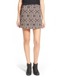 Lush | Brown Knit Miniskirt | Lyst