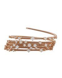 Mattia Cielo | Metallic Rugiada Five-circle Wrap Diamond Bracelet | Lyst