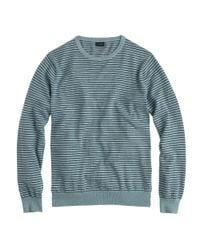 J.Crew | Blue Tall Cotton-cashmere Sweater In Microstripe for Men | Lyst