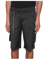 Saucony - Black Multi-pockets Cotton Bermuda Shorts for Men - Lyst