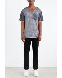 BDG - Gray Burnout Standard-fit V-neck Tee for Men - Lyst