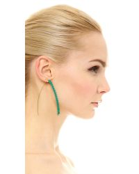 Aurelie Bidermann - Blue Studded Macrame Earrings - Turquoise - Lyst