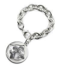 Monica Rich Kosann - Metallic Round Charm Photo Sterling Silver Bracelet - Lyst