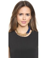 Elizabeth and James - Bau Necklace - Gold/Blue - Lyst