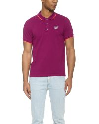 KENZO - Purple Tiger Polo for Men - Lyst