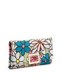 Roger Vivier - Multicolor Ines Floral-print Small Pochette Bag - Lyst