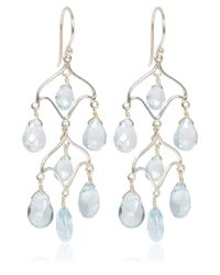 Dinny Hall - Metallic Silver Blue Topaz Chandelier Earrings - Lyst