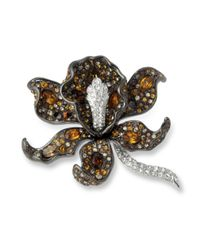 Kenneth Jay Lane | Multicolor Multi Topaz Orchid Brooch | Lyst