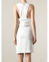Balenciaga - White Pleated Front Dress - Lyst