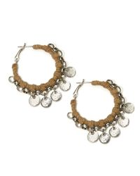 Catherine Stein - Metallic Leatherette Wrapped Hoop Earrings, 1.25In - Lyst