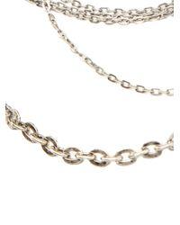 Peachoo + Krejberg | Metallic Multi Layer Necklace | Lyst