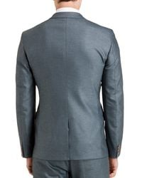 Ted Baker - Blue Veerity Diamond Jacquard Classic Fit Blazer for Men - Lyst