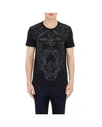 Alexander McQueen - Black Lion & Skull T-shirt for Men - Lyst