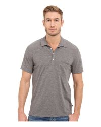 7 For All Mankind | Gray Short Sleeve Raw Placket Polo for Men | Lyst