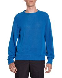 E. Tautz - Blue Crewneck Pullover for Men - Lyst