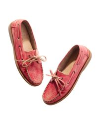 Madewell | Pink Bed|stü™ Aunt Babbs Boat Shoes | Lyst