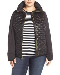 MICHAEL Michael Kors | Black Soft Shell and Quilted Down Jacket | Lyst