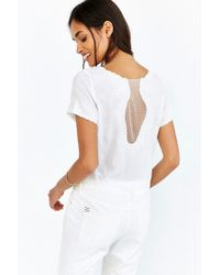 Kimchi Blue - Natural Delicate Mesh-inset Top - Lyst