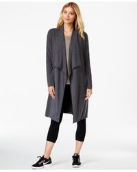 Calvin Klein | Gray Performance Jersey Cardigan | Lyst