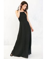 Kimchi Blue | Black Apron Neck Embroidered Maxi Dress | Lyst