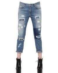 Frankie Morello - Blue Boyfriend Fit Cotton Denim Jeans - Lyst