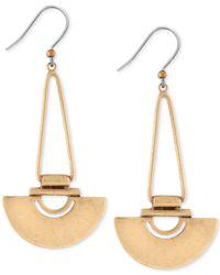 Lucky Brand | Metallic Gold-tone Semi-circle Drop Earrings | Lyst