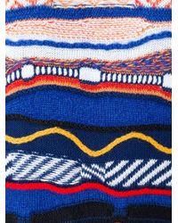 Love Moschino - Multicolor Intarsia Logo Print Long Sweater Dress - Lyst