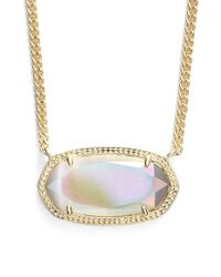 Kendra Scott | Metallic 'dylan' Stone Pendant Necklace | Lyst