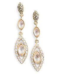 Judith Jack - Metallic Navette Linear Drop Earrings - Lyst