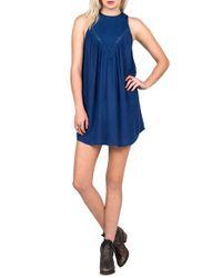 Volcom - Blue Peaceazy Tank Dress - Lyst