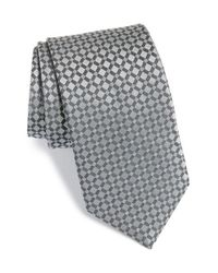 Michael Kors | Metallic 'checkmate' Silk Tie for Men | Lyst