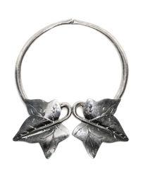 Alexander McQueen - Metallic Ivy Choker - Lyst