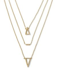 Banana Republic | Metallic Triangle Layered Necklace | Lyst