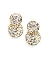 Saks Fifth Avenue | Metallic Pavé Round Drop Earrings | Lyst
